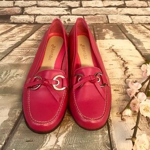 St Johns Bay Pink Leather Loafers